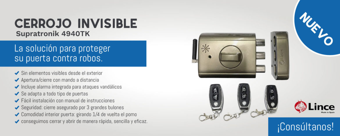 cerrojo invisible lince 4940tk